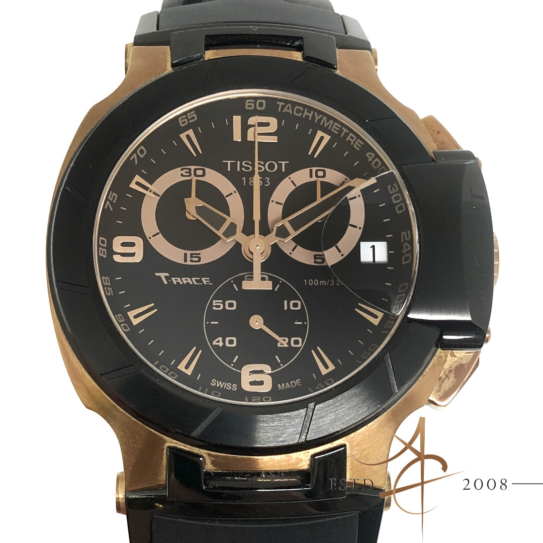7997a9bf89fc Tissot T-Race Trace T0484172705706 Rose Gold-Tone Quartz Watch with ...