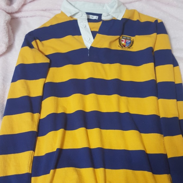 Tna blue and yellow rubgy longsleeve