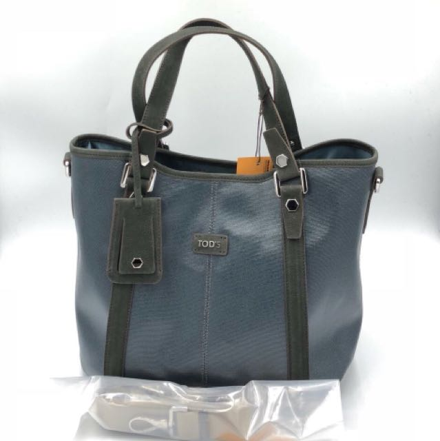 Tods G-line picolla canvas coated med grey metallic