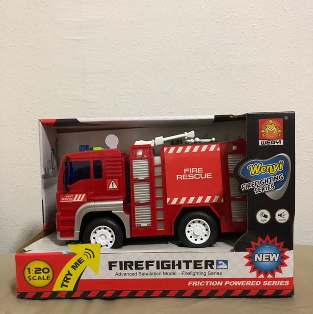 Toy Firefighter Truck, Toys & Games, Bricks & Figurines on
