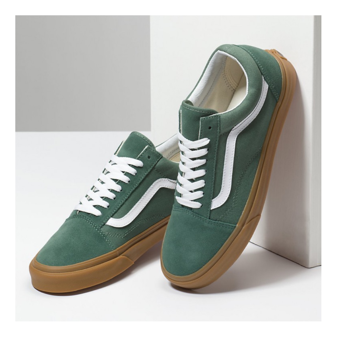 cb16bfb763ffc7 VANS OLD SKOOL SHOES – DUCK GREEN GUM
