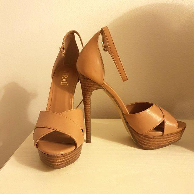 Verali Tan Platform Sandal Heels
