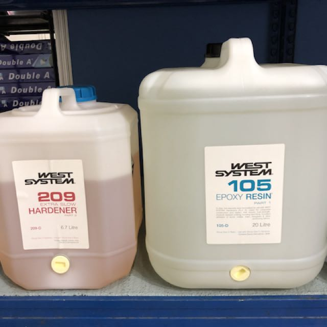 West System - Epoxy Resin 26 7 litres drun, Furniture, Others on