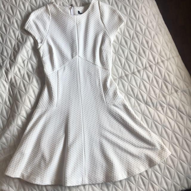 White Textured Dress