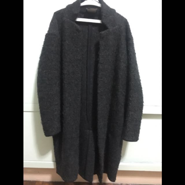 Zara Charcoal Gray Coat