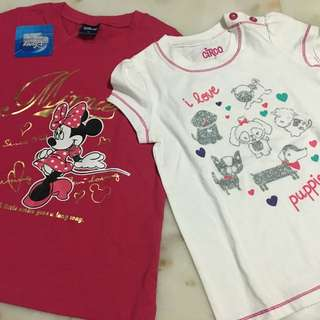 Disney & Circo Tops for 5 Years Old Brand New