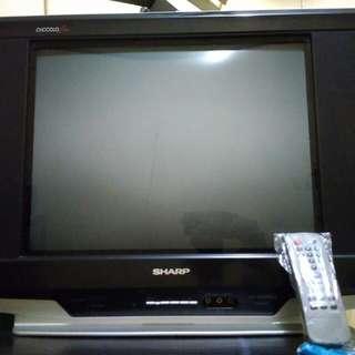 tv sharp 21 picollo slim layar datar no minus