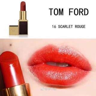 Tomford lipstick scarlet rouge#16