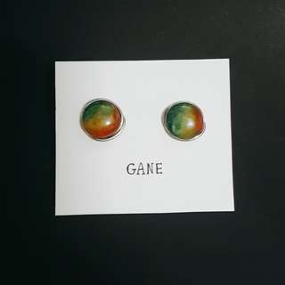 rainbow planet earring
