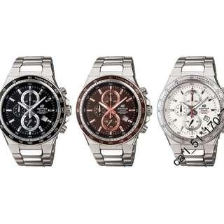深水步有門市 Casio 原裝手錶全新全套行貨一年保養有單 Casio Edifice EF-546D 多色