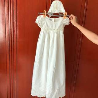 Christening Gown with hat