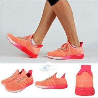 全新 Adidas舒適慢跑波鞋 ,   Brand new,Adidas CC Sonic W Orange Pink Bounce ClimaChill Womens Running Shoes  Size see the photos , with hangtags and box New style, selling at flagship store   尺碼見相片, 有掛咭及鞋盒 新款, Adidas旗艦店有售