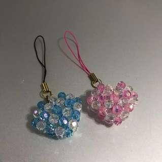 Handmade Heart Beads Keychain