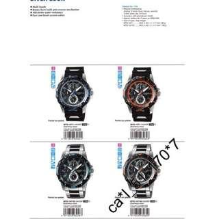 深水埗門市全新有保養正貨 膠帶 指針 紅色條字面 100m 防水 Casio 手錶 MTD-1071