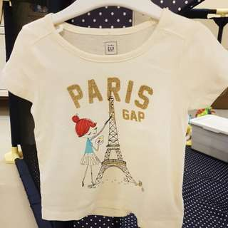 [GENUINE 50% OFF] Baby GAP Paris Girl City Graphic T-shirt