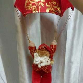 跳傘聖誕老人裝飾尺半長