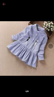 Girl Soft cotton stripe dress