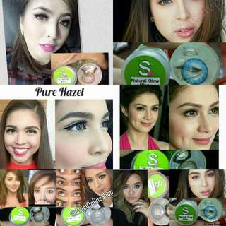 LAHAT PO ONHAND !!! 😍😍😍😛  Resell : 350 pesos with Free Lens case & 40ml Solution.  Sparkle Contact lens - Good for 1 year. - 100% Safe - #1 Best selling Contact lens in the philippines.  DOLL EYE size ( 15-16mm Diameter )
