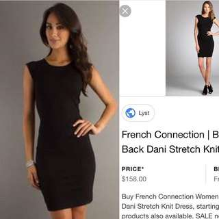 French connection black fit dress
