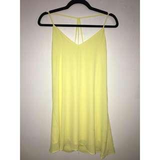 Banana Yellow Midi Dress