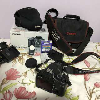 Canon EOS 550D full set with box and extra