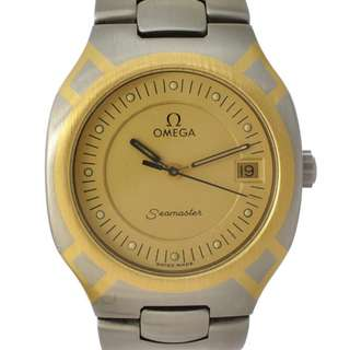 Omega Seamaster Polaris Men's Watch Quartz Stainless Steel × YG Dialboard Gold 396.1022 (SHIP FROM JAPAN)