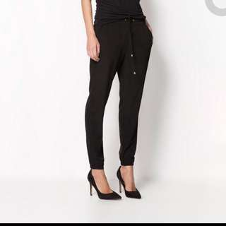 Casual Harem Pants with Drawstring in black