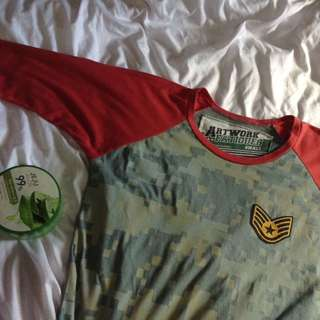 Army print with patch