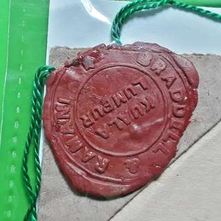 FEDERATED MALAY STATES - 1953 - NOTARY - Super Wax Seal. - in72