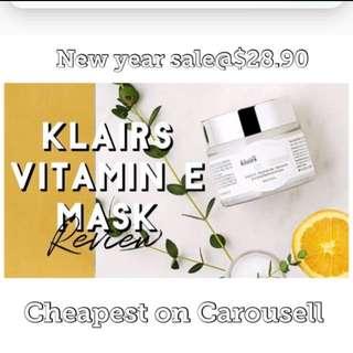 Cheap!! Klairs vitamin e mask bnib