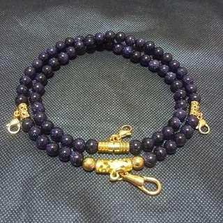 Sold - Good & Nice Sky Blue Sandstone beads 4 hook necklace