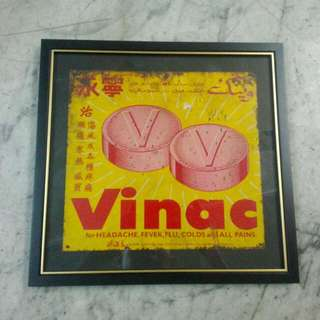 Vinac Tin Sign Vintage