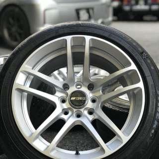 Work LF 15 inch sports rim wira se tyre 70%