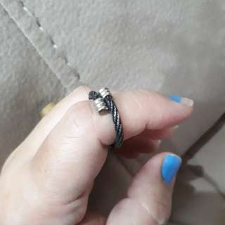 Size 7 black coil ring