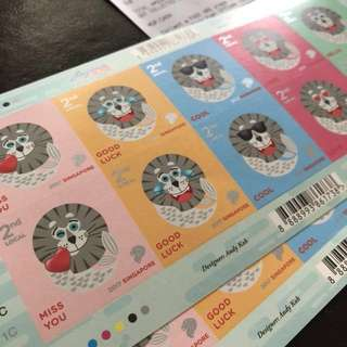 Singapore Merlion stamps one sheet