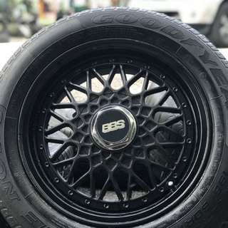 Bbs rs 15 inch sports rim alza tyre 70%