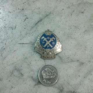 Persatuan Bekas Bekas Polis PBBP Pin Badge Vintage
