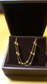 萬福珠寶 999.9黃金手鍊(Bracelet)重0.128錢/4.79g