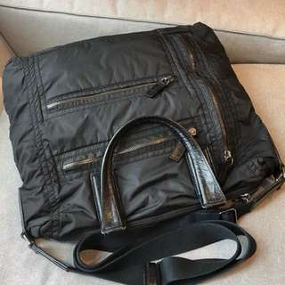 TODS BLACK LARGE TOTE WITH LONG STRAP