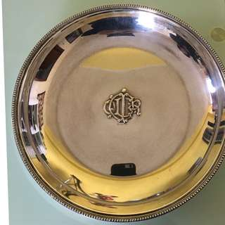 Vintage Christian Dior Silver Plated Disc Rare