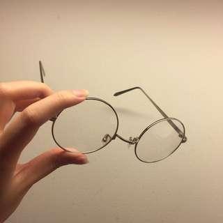Round Vintage Geek Specs (Silver framed)