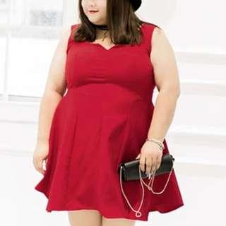Missy Plus Work Dress in Red