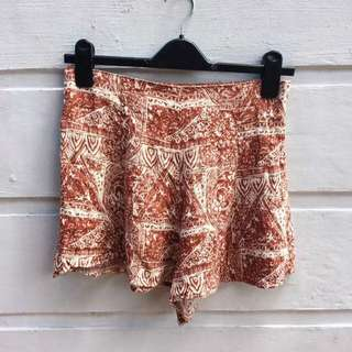 Forever 21 Brown Aztec Shorts
