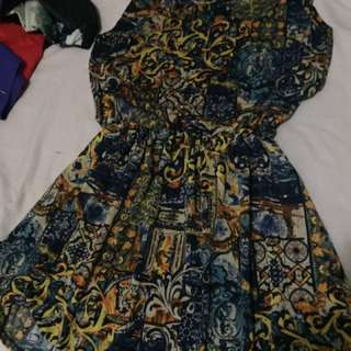 Multi colored sleeveless dress for sale!