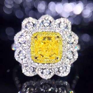 18K白金 GIA黃鑽 鑽戒(歡迎詢價)