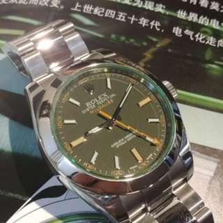 Rolex 116400 綠玻璃