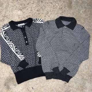 🚚 黑白 毛衣 (vintage.古著)優惠價580元