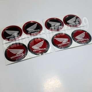Sticker MOTOR Timbul Honda Merah List Hitam dan Hitam List Merah Paket 4 Set satu paket HEMAT New Ready Stock Produk Terlaris