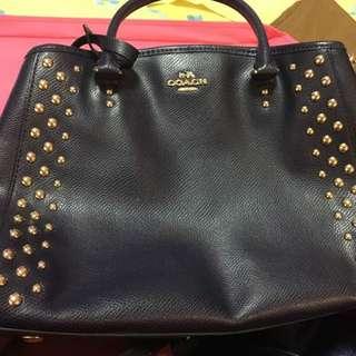 Coach Mini Margot Studded Leather Carryall