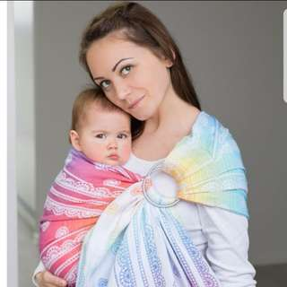 BNIB LennyLamb Ring Sling Jacquard Weave 100% Cotton RAINBOW LACE